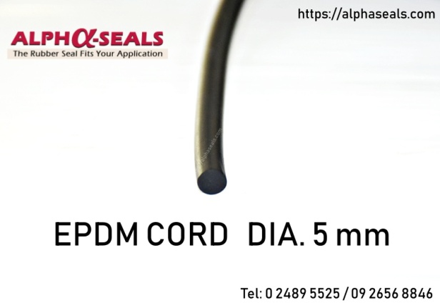 EPDM RUBBER CORD DIA. 5 mm