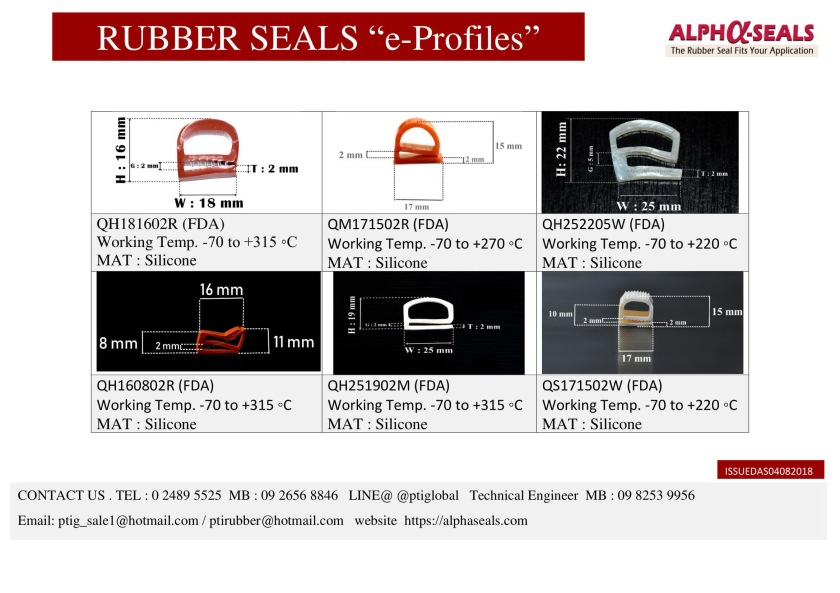 RUBBER SEALS e-profiles Manufacturer 2019-1