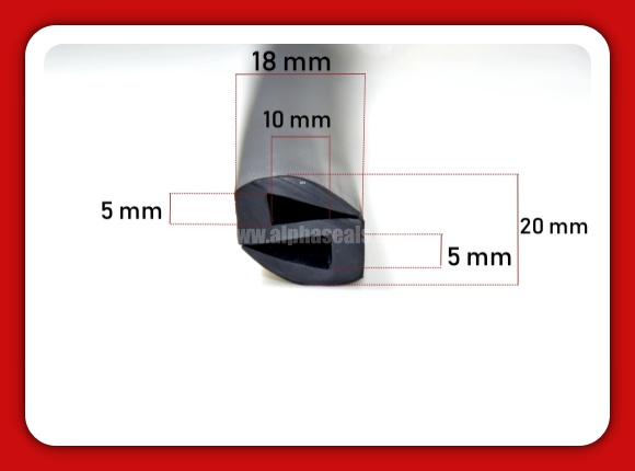 ซีลยางขอบกระจก ซีลยาง s-profile  GR-S-005