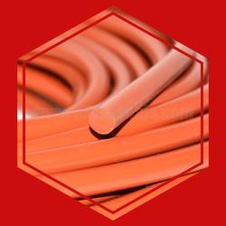 ซีลยางซิลิโคนกลมตันสีแดงอิฐทนความร้อนสูง 315 C