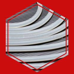 ซีลยางซิลิโคนกลมตันสีขาวขุ่น DIA. 9 mm