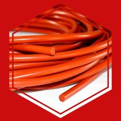 ซีลยางซิลิโคนกลมตันสีแดงอิฐ DIA .7 mm